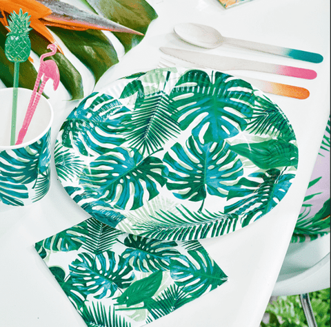 Tropical Fiesta Palm Leaf Paper Plates