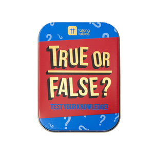 Talking Tables True or False In a Tin