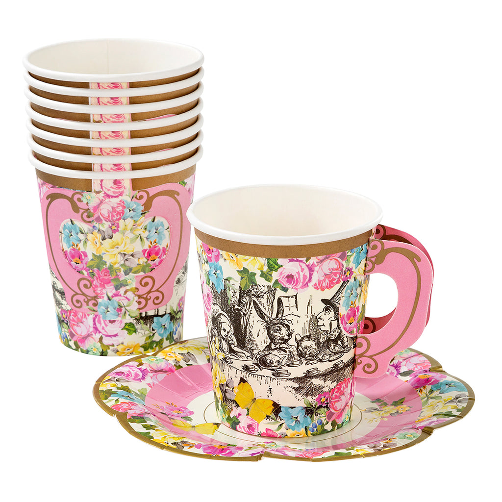 Truly Alice Cups & Saucers Set