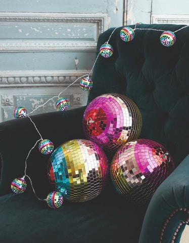 Boho Discoball String Lights