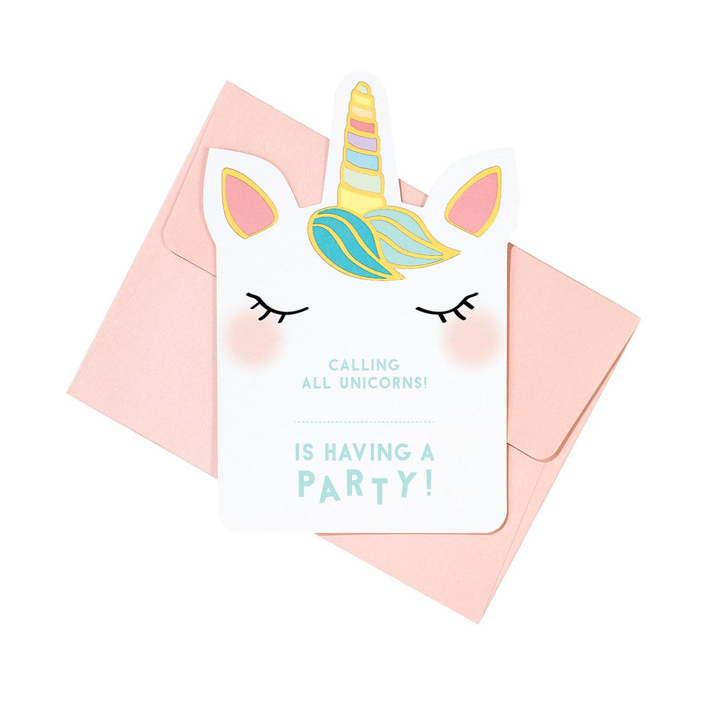 Talking Tables We Heart Unicorns Invitations