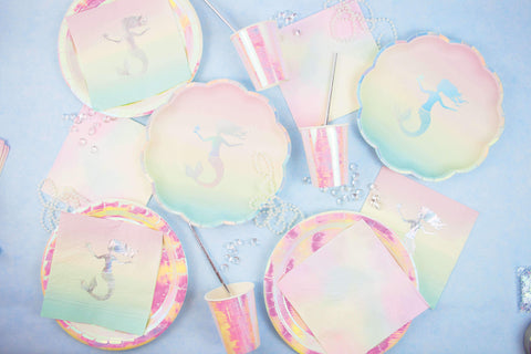 We Heart Mermaids Paper Plates