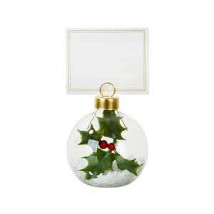 Botanical Holly Bauble Placecard Holder