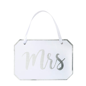 Modern Romance 'Mrs' Decorative Sign