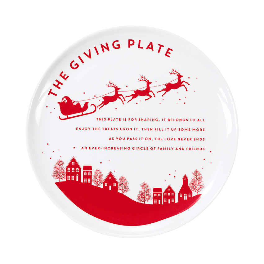 Botanical Santa Giving Plate