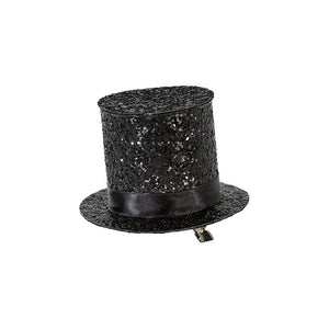 Mix & Match Black Glitter Top Hat