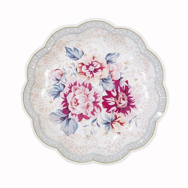 Truly Romantic Dainty Paper Plates