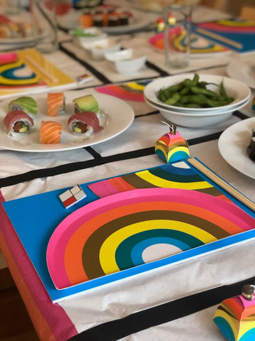 talking tables rainbow brights gathering party