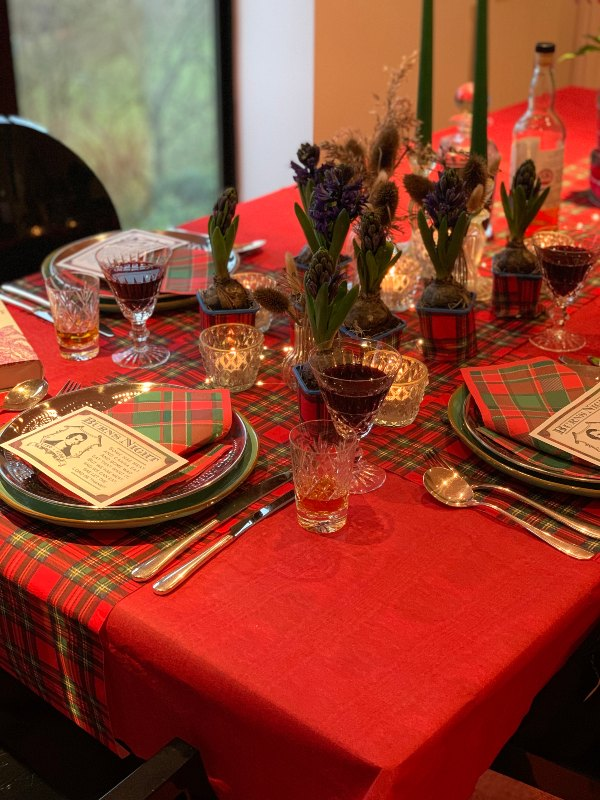 Clare's Burns Night Out Tablescape