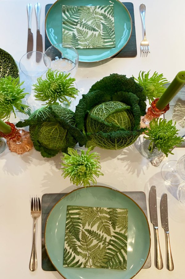 Clare's Geen Tablescape