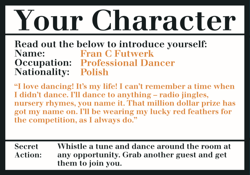Murder Mystery on the Dance Floor, Online Invite - Talking Tables