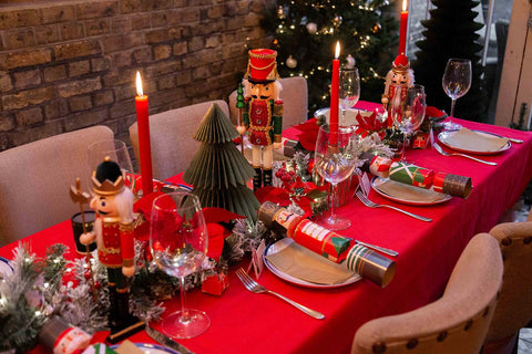 botanical nutcracker theme christmas table by talking tables