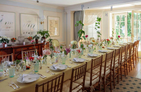 cathy graham floral table setting as featured on talking tables blog