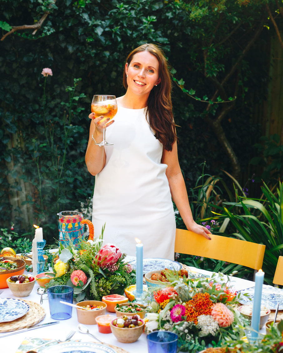 Sarah's Mediterranean Tablescape with Greek Blue and White Inspiration and Citrus Fruits - Talking Tables UK