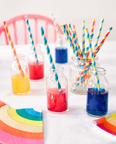 talking tables rainbow paper straws