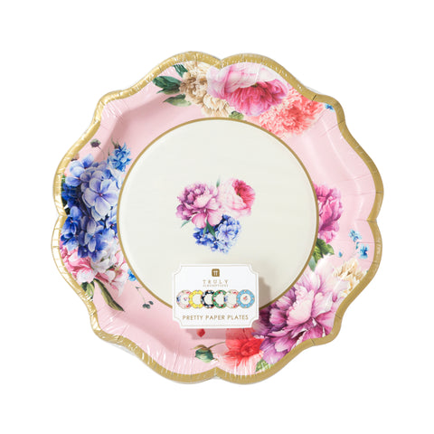 tea party truly scrumptious paper plates by talking tables