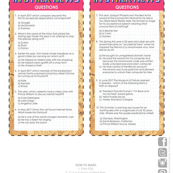 printable quirky pub quiz - Talking Tables