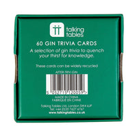 after dinner gin trivia - Talking Tables