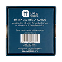 after dinner travel trivia - Talking Tables