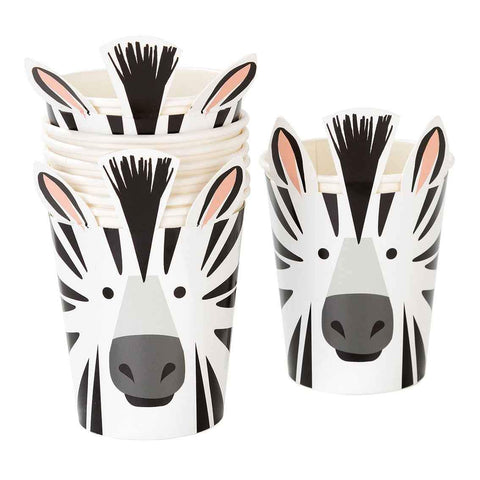 Party Animals Zebra Cups