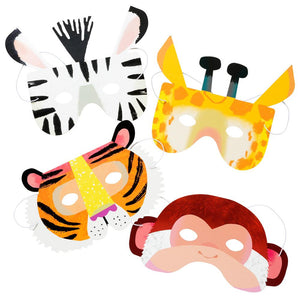 Talking Tables party animal paper masks w elastic 6pk