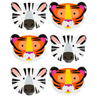 party animals animal face plates - Talking Tables