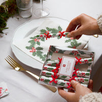 Botanical Holly Saucer Crackers - Talking Tables UK Public