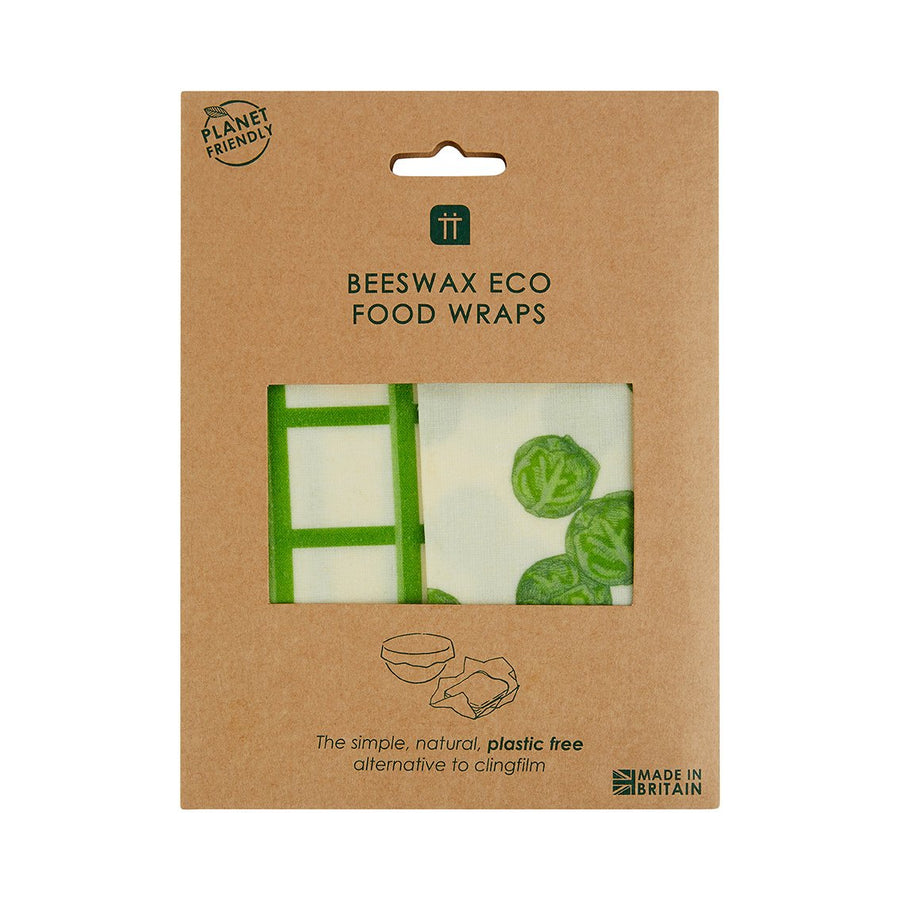 botanical sprout beeswax wraps 2 pack - Talking Tables