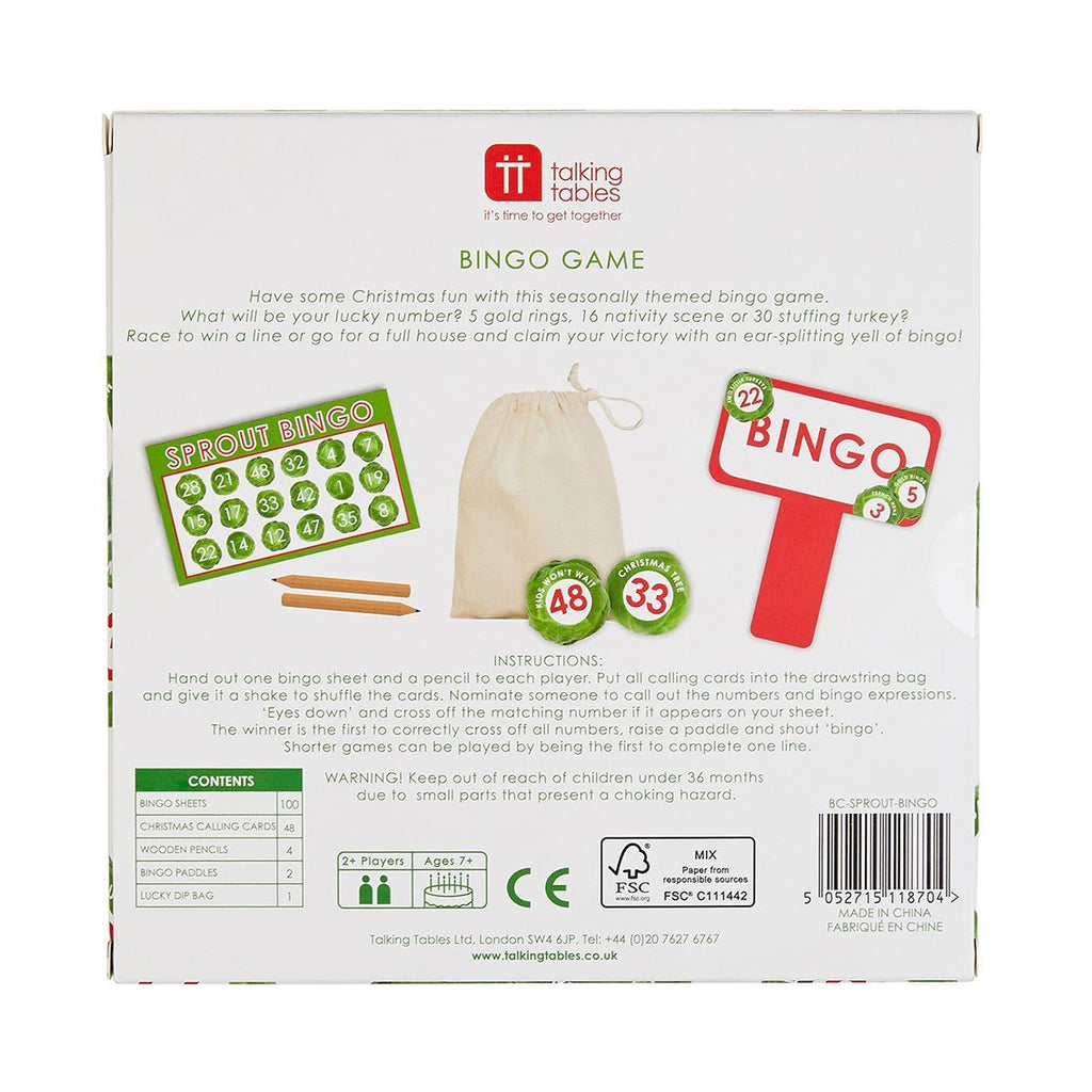 sprout bingo - Talking Tables