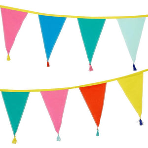 We Heart Birthdays Rainbow Fabric Bunting, 3m