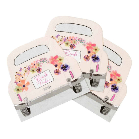 blossom bride car shaped napkins - Talking Tables