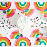 Birthday Brights Rainbow Shaped Plates - Talking Tables UK Public