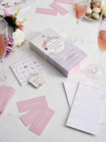 blossom bride bridal shower games collection - Talking Tables
