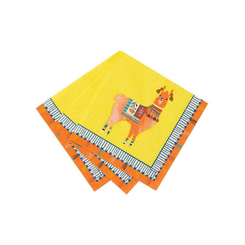 boho mix llama cocktail napkin 20pk 1 - Talking Tables