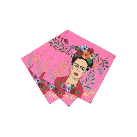 boho frida cocktail napkin 16pk - Talking Tables