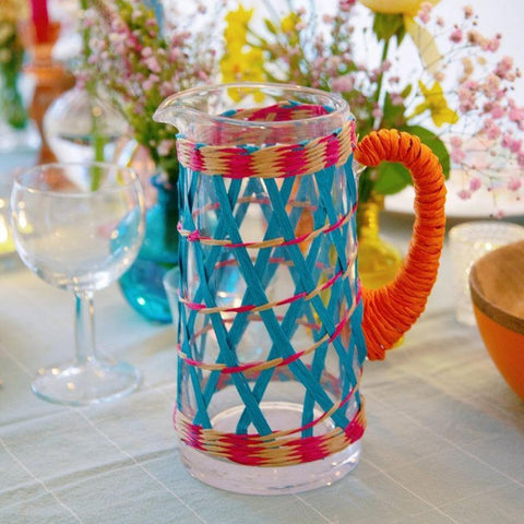 Colourful Boho Glass Jug