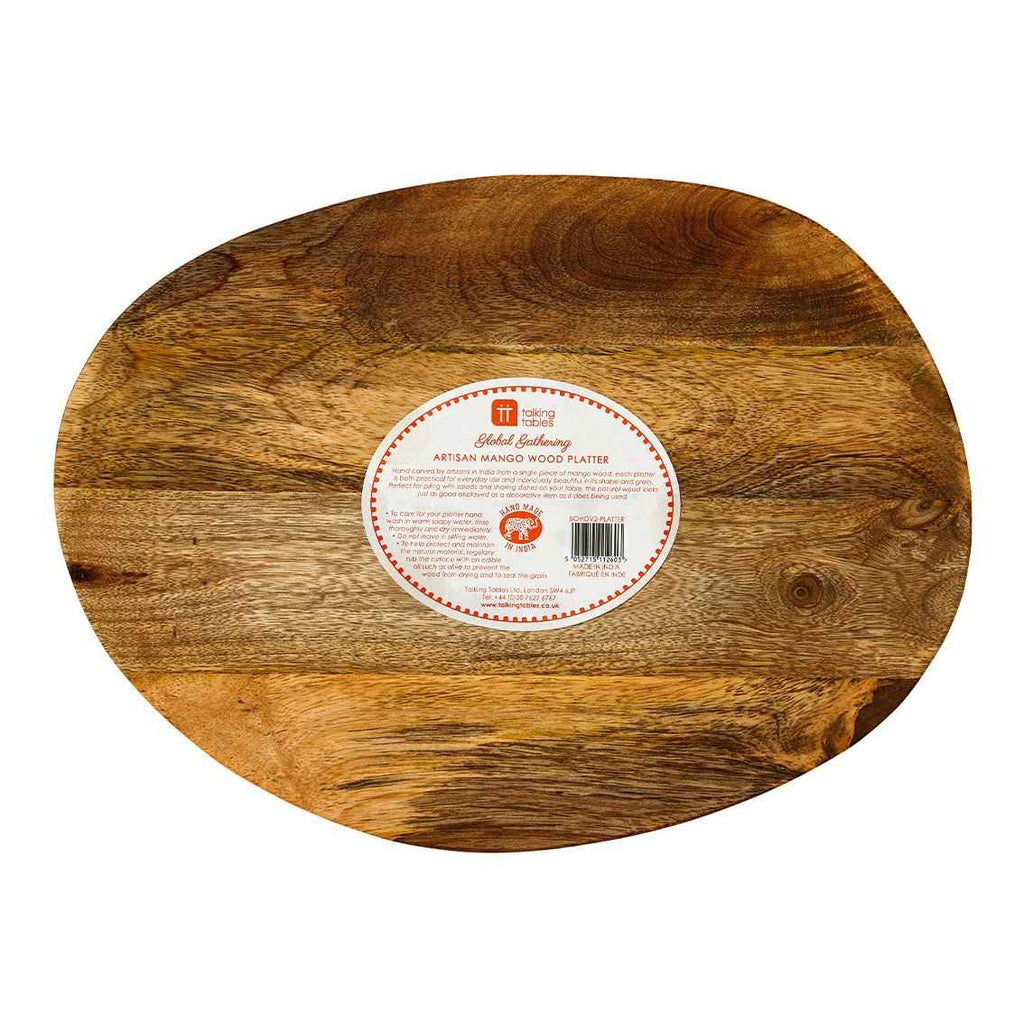 boho spice mango wood platter - Talking Tables