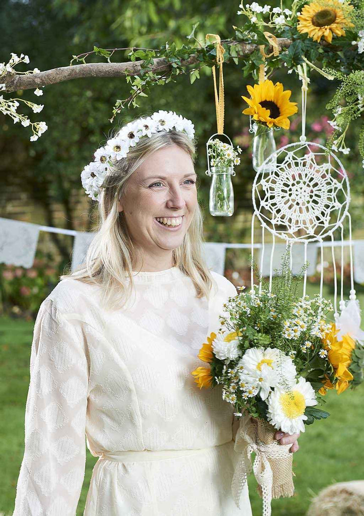 boho bride light up flower crown - Talking Tables