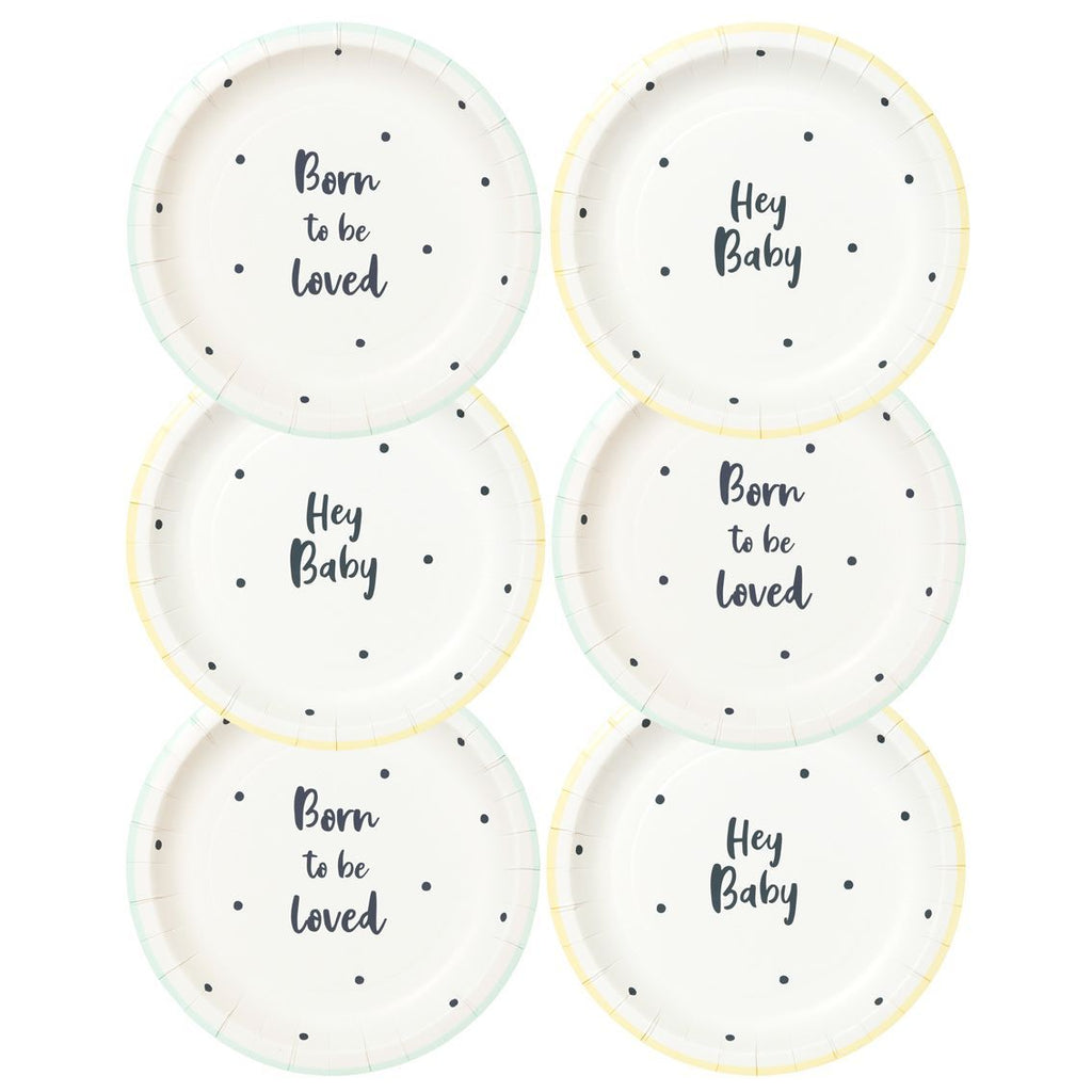 born to be loved plate - Talking Tables
