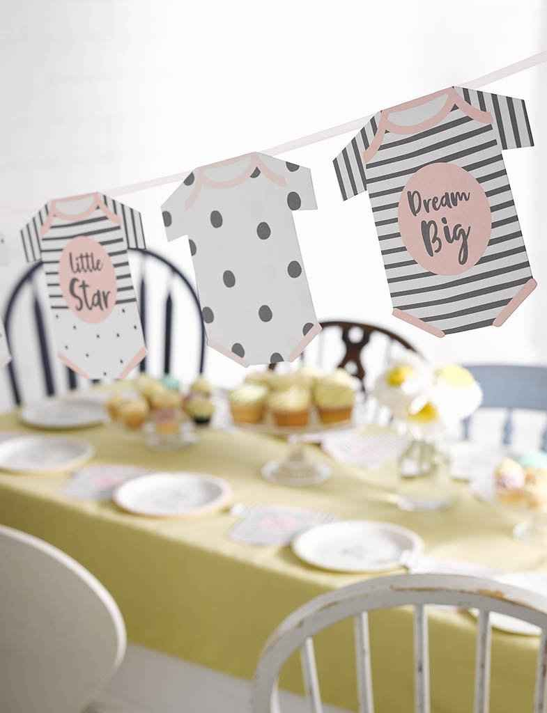 Born To Be Loved Pink Garland - Talking Tables UK Public