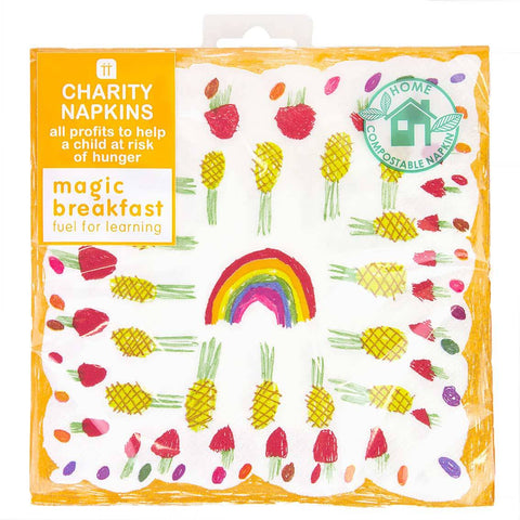 talking tables charity napkin 33cm - Talking Tables