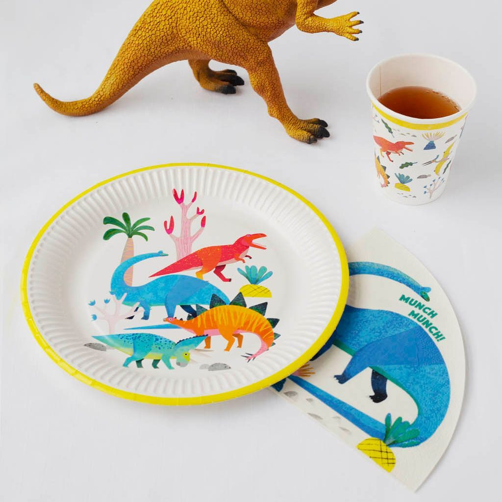 party dinosaur brachiosaurus shaped napkins - Talking Tables