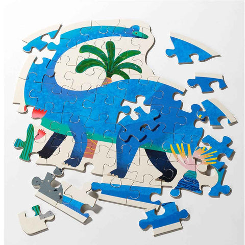 Party Dinosaur Brachiosaurus Shaped Puzzle 52 Pieces - Talking Tables UK Public