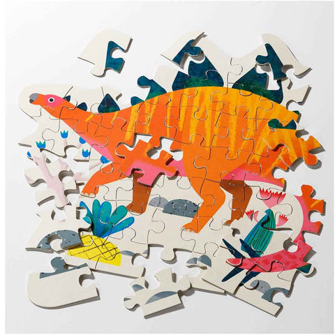 Party Dinosaur Stegosaurus Shaped Puzzles 54 Pieces - Talking Tables UK Public