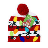 christmas entertainment light up pom pom hat - Talking Tables