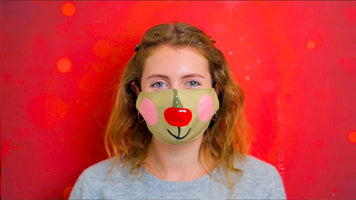 Christmas Entertainment Reindeer Face Mask
