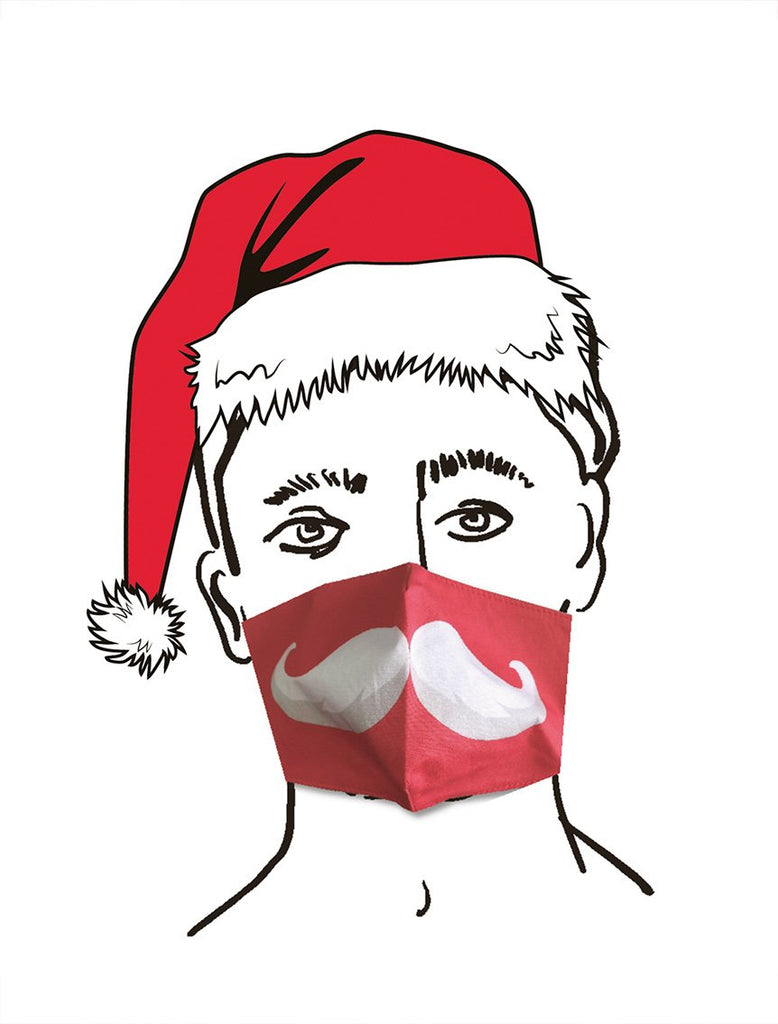 Christmas Entertainment Santa Face Mask - Talking Tables UK Public