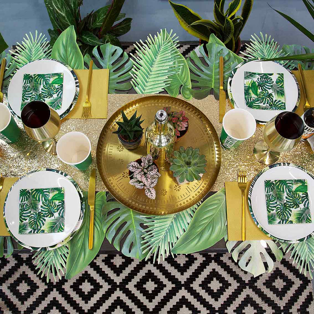 luxe gold glitter table cover - Talking Tables