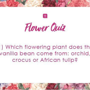 printable flower quiz - Talking Tables