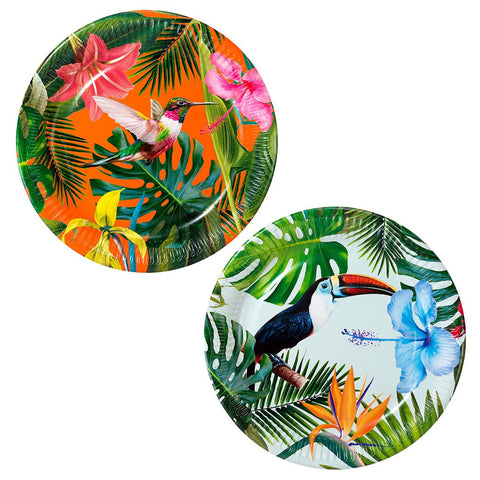 tropical plate 12 pack - Talking Tables